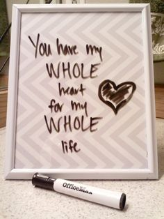 AT THE PARK'S: Picture Frame Dry Erase Board