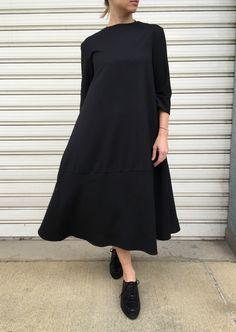 Black Asymmetrical Tunic Dress / Loose Long от MDSewingAtelier