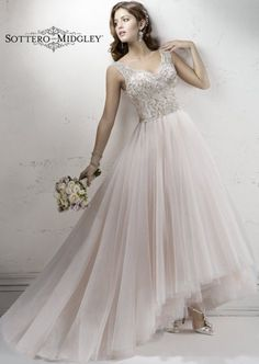 Ball Gown Wedding Dresses : Wedding Dresses with Lace and Tulle Details  MODwedding