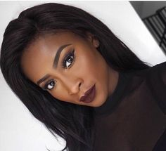 makeup black – Hair and beauty tips, tricks and tutorials Dark Skin Makeup, Dark Skin Beauty, Hair Makeup, Black Beauty, Natural Makeup, Natural Beauty, Makeup Geek, Simple Makeup, Black Girl Makeup Natural