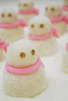 Snowman mochi