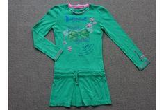 Muy Malo jurk groen roze blauw pailletten strik maat 128