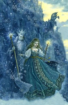 Art Works of Ruth Sanderson ~ The Snow Princess Fairy Land, Fairy Tales, Winter Solstice Rituals, Winter Solstice 2019, The Snow, Tres Belle Photo, Snow Maiden, Vintage Fairies, Fairytale Art