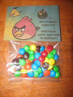 Angry Bird Poop Birthday Treat!
