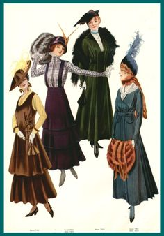 Fashion plate, circa 1915 Easy (Post-) Edwardian: How to Put Together a Thrifted WWI Day Dress | The Pragmatic Costumer