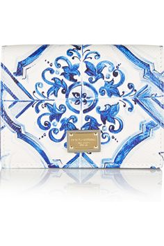 Dolce & Gabbana | Printed textured-leather cardholder | NET-A-PORTER.COM