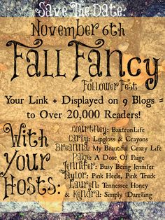 Fall Fancy Follower Fest - a huge interlinked blog party with 9 hosts, reaching 20,000+ readers!