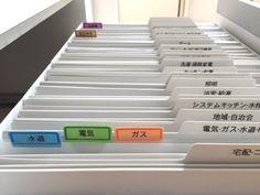 書類整理 書類の整理 バーチカルファイリング