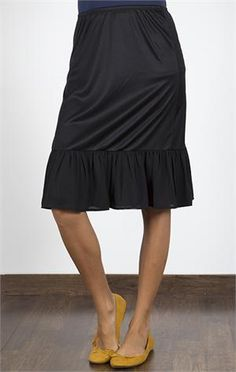 All Day, Every Day Skirt Extender Slip -thinking about getting one in black