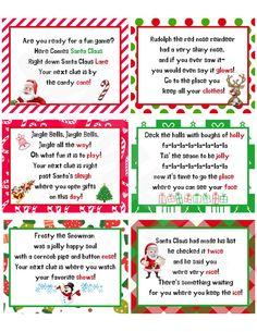 Xmas Games, Christmas Activities For Kids, Christmas Party Games, Christmas Printables, Holiday Fun, Christmas Present Hunt Clues, Christmas Songs Kids, All Things Christmas, Scavenger Hunt Clues