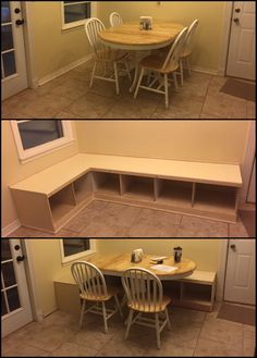 Kitchen chairs were loose even after a repair. So I built a replacement bench with storage.