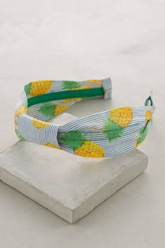 Striped Pineapple Headband - anthropologie.com