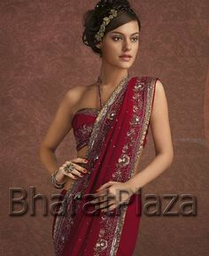 Not that I am planning on wearing a saree, but this is a cool look