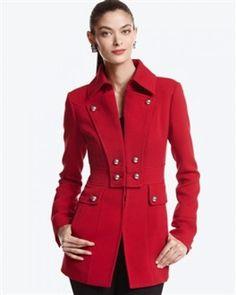 912a17be73 WHITE HOUSE BLACK MARKET - RED MILITARY JACKET - MEDIUM Military Jacket