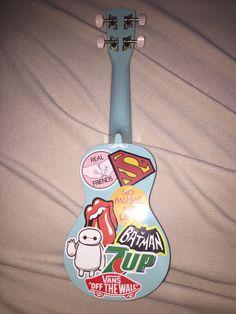 covered my uke in stickers to give it a cool vibe :) so happy with results! Ukulele Art, Guitar Art, Cool Ukulele, Music Aesthetic, Summer Aesthetic, Ukulele Stickers, Painted Ukulele, Ukulele Design, Marceline And Bubblegum