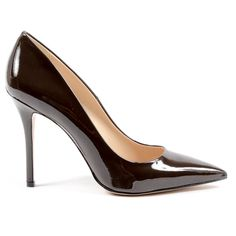 V 1969 Italia Womens Pump Dark Brown Adriana Leather Heels, Calf Leather, Dolce And Gabbana Shirts, Dark Brown Color, Versace, Calves, Pumps, Detail, Composition