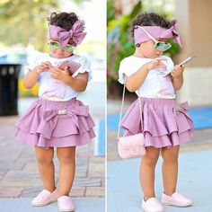 Cute kids clothing styling ideas – Just Trendy Girls: www. Source by justtrendygirls clothes Little Girl Outfits, Cute Outfits For Kids, Little Girl Fashion, Toddler Girl Outfits, Little Girl Dresses, Toddler Dress, Cute Kids Fashion, Toddler Fashion, Fashion Ideas