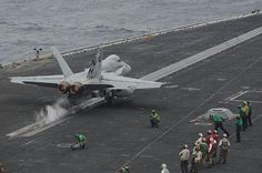 This is our kind of blast off. An F/A-18C Hornet launches off of the flight deck of the aircraft carrier USS Nimitz. #Navy #USNavy #AmericasNavy navy.com