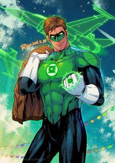 Hal Jordan Green Lantern by 小红帽Rico Green Lanterns, Green Lantern Movie, Green Lantern Hal Jordan, Green Lantern Corps, Blue Lantern, Marvel Comics Superheroes, Dc Comics Characters, Dc Comics Art, Comic Books Art