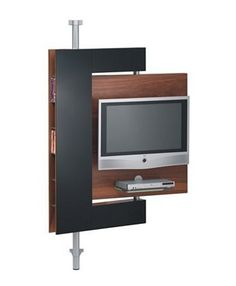 Swivel Media Stand - swivel TV mount and storage by Die Collection Media Rack, Floating Tv Stand, Living Tv, Swivel Tv Stand, Tv Rack, Tv Stand Designs, Tv Panel, Diy Tv Stand, Bookshelves Built In