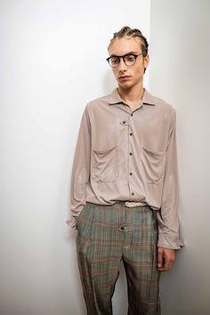 L.A. EYEWORKS »Diggs« Button Down Shirt, Men Casual, Mens Tops, How To Wear, Shirts, Fashion, Moda, Dress Shirt, Fashion Styles