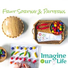 Fruit Sorting & Patterning with Free Printables
