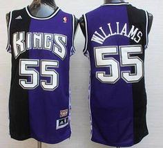 185132b0c23 Men s Sacramento Kings  55 Jason Williams PurpleBlack Hardwood Classics  Soul Swingman Throwback Jersey