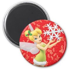Tinker Bell With Snowflake Magnet