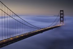 https://flic.kr/p/7DPdSu   Foggy Sunrise At The Golden Gate Bridge - Day 3   Golden Gate Bridge from the Marin Headlands - Marin County, California  So The fog rolled through the Golden Gate Bridge for a third day straight, and again, I just couldn't pass it up. I made my way out, snapped a few test shots, and like making pancakes, I tossed the first couple of images.   I wanted to get to a spot as close to the bridge as possible, and Battery Spencer is the place to be if you're looking for…