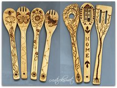 wood burning bamboo spoons | Flickr - Photo Sharing!