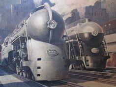 "Vintage 1945 Leslie Ragan New York Central Railroad ""For The Public Service"""