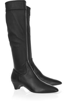 Stretch-leather knee boots by Burberry Prorsum