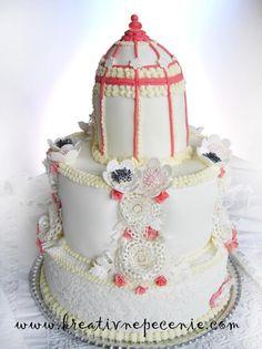 Vintage svadobná torta. Autor: kraativnepecenie. Tortyodmamy.sk