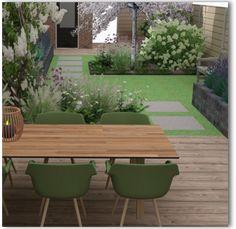 Garden Design Layout - New ideas Small Backyard Patio, Backyard Patio Designs, Backyard Landscaping, Back Garden Design, Yard Design, Back Gardens, Outdoor Gardens, Small Garden Plans, Small Back Garden Ideas