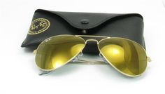 4f1c925d22ce Ray Ban RB3025 Large Aviator Sunglasses - W3276 Gold (Gold Mirror Lens) -  58mm