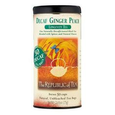 The Republic of Tea - Decaf Ginger Peach Black Tea Bags