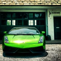 HOT Chrome Green Lamborghini Gallardo