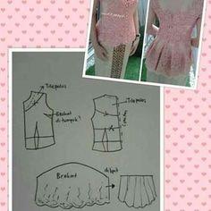 No automatic alt text available. Kebaya Peplum, Kebaya Lace, Kebaya Brokat, Batik Kebaya, Baby Dress Patterns, Blouse Patterns, Clothing Patterns, Sewing Patterns, Sewing Jeans