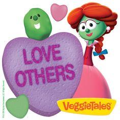 Veggie Tales Love Others - FREE Printable Treat Tags