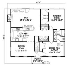 Bungalow Cabin Cottage Country Traditional House Plan 95817