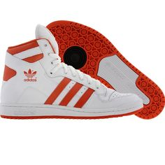 low priced f72b9 f6241 Adidas Decade OG Mid shoes in white, crayon orange, and black