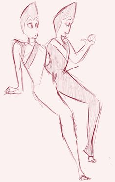 The Rutile Twins from Steven Universe.