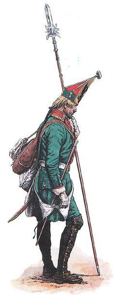 Russian Grenadier Фельдфебель Сводного гренадерского батальона Его Высочества 1788-1791 гг.