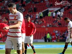 Robin van Persie at Old Trafford - Manchester United: a Global Brand on Social Media