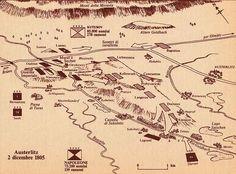 Schizzo del l campo di battaglia di austerlitz