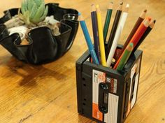 How to Upcycle a Cassette Into a Pencil Holder