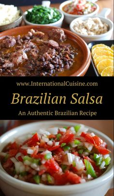 This Brazilian Salsa recipe is a staple. It is a must with the national dish feijoada. An easy and delicious recipe. This Brazilian Salsa recipe is a staple. It is a must with the national dish feijoada. An easy and delicious recipe. Brazilian Dishes, Brazilian Recipes, Brazil Food, Brazil Brazil, Feijoada Recipe, Brazillian Food, National Dish, Grilling Gifts, Russian Recipes
