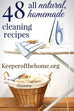 6 Steps To a Naturally Clean Home {Plus 48 recipes} - Keeper of the Home
