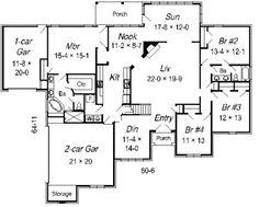 **12-27-17** European Style House Plan - 5 Beds 3.00 Baths 3010 Sq/Ft Plan #329-279 Floor Plan - Main Floor Plan - Houseplans.com Craftsman House Plans, Country House Plans, Barbie Dream House, European Fashion, Square Feet, Floor Plans, Flooring, How To Plan, Bedroom
