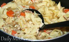 Old Fashioned Crock-Pot Chicken Noodle Soup.